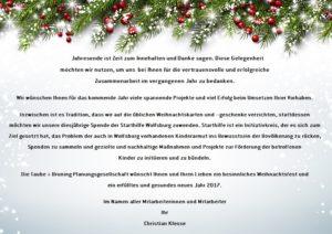 T+B Weihnachten 2016 Grüße